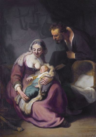 Rembrandt: The Holy Family. Fine Art Print/Poster. Sizes: A4/A3/A2/A1 (004289)